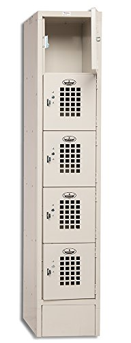 Winholt WL-55 5 Door Locker with One Column, Multi-Tier, 12