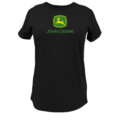 - John Deere Logo T-Shirt - Women's - Black, XX-Large