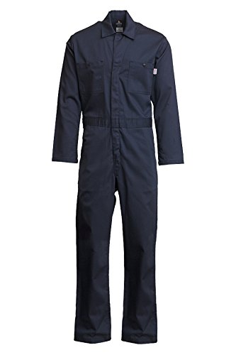 Lapco FR CVEFR7NY-4XL TL Flame Resistant Economy Coveralls, 100% Cotton Twill with Moisture Management, HRC 2, NFPA 70E, 7 oz, 4X-Large Tall, Navy by Lapco FR (Image #4)