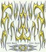- XXX MAIN RACING H004 External Decal Spider Phlames XXXC0204