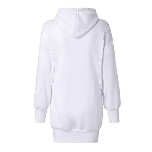Morchan Blanc Femmes Manteau Mode Sweats À Pull Couleur Solide Vêtements Capuche ❤ Sweat 6r7xq6