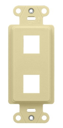 Legrand - On-Q WP3412LA 2Port Decorator Outlet Strap, Light Almond Strap Almond
