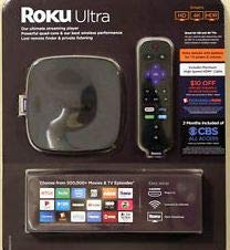 Roku Ultra Bundle 4K/HDR/HD streaming player with Enhanced remote and HDMI cable + $10 OFF Fandango + 2 months CBS all access (exp 6/30/2019)