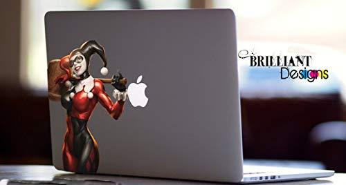 Harley Quinn, Full Color Decal Sticker, Use for MacBooks, Laptops ()
