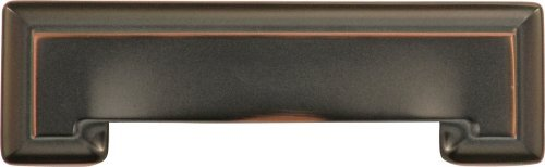 - Hickory Hardware P3013-OBH 3-Inch and 96mm Studio Collection Double Bore Cup Pull, Oil-Rubbed Bronze Highlighted by Hickory Hardware