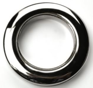 10 x Chrome Rufflette 36mm Jupiter Eyelet Rings