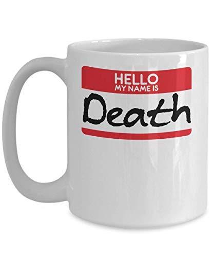 Novelty Coffee Mug My Name Is Death Halloween Costume Sickle Scythe Horror Film Scary Trick Or Treat Gift Mug Birthday Gift Sarcasm Mug Cup 11OZ]()
