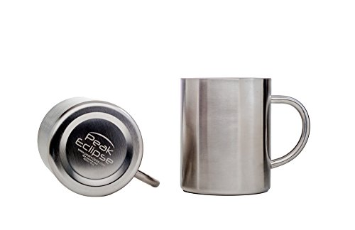 Stainless Steel Mugs 15 oz - Set of 2 - Double Wall Insulated - Keeps drinks Hot or Cold for longer