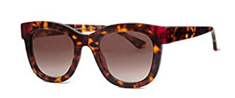 Thierry Lasry Chromaty Butterfly Sunglasses 008 Tortoise w/ Red / Brown Gradient