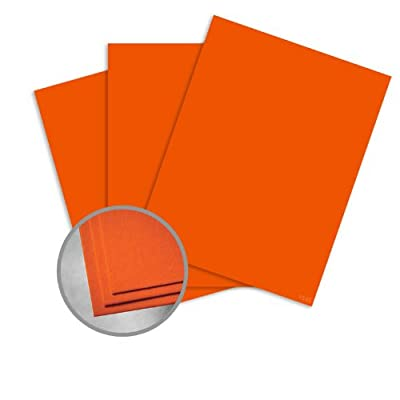 Astrobrights Orbit Orange Paper - 11 x 17 in 60 lb Text Smooth 30% Recycled 500 per Ream