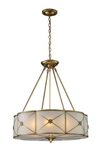 Elk Lighting 22001/6 Preston 6-Light Pendant, Brushed Brass from ELK Lighting
