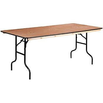 Flash Furniture 36u0027u0027 X 72u0027u0027 Rectangular Wood Folding Banquet Table With  Clear