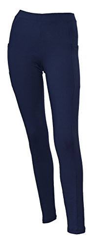 Private Island Hawaii Women UV Rash Guard Leggings Long Pants Surfing Sun Protection Swimming Suit Wide Color Scheme with Both Side Pocket Navy Large]()