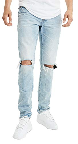 American Eagle Mens 44397508 Slim Jean, Light Destroy Wash (33x30)