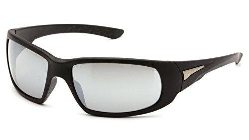 Venture Gear Montello Safety Sunglasses, Black Frame, Silver Mirror Anti-Fog - Sunglass Emporium