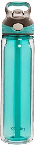 (Contigo AUTOSPOUT Straw Waveland Water Bottle, 18 oz, Ocean)