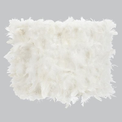 Jubilee Collection 4844 Feather Drum Shade, Large, White