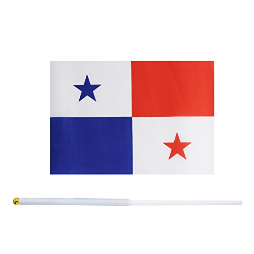 50 Pack Hand Held Small Mini Flag Panama Flag Panamanian Flag Stick Flag Round Top National Country Flags,Party Decorations Supplies For Parades,World Cup,Sports Events,International Festival