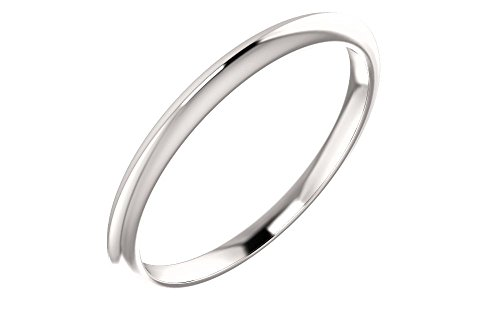 Jewels By Lux Platinum Knife Edge Wedding Ring Band
