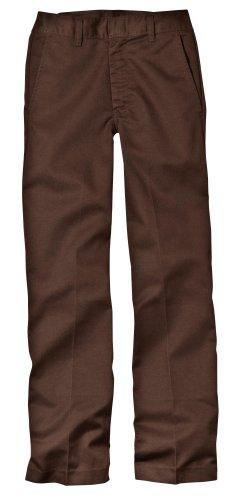 Dickies Big Boys' Classic Flat Front Pant, Mahogany, 8 Regular