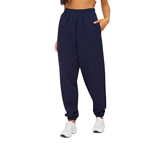 Sherostore ♡ Womens Yoga Pants Wide Leg Comfy Drawstring Loose Straight Lounge Running Workout Legging Navy