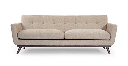 Kardiel Jackie Mid-Century Modern Classic Sofa, Portobello Vintage Tailored Twill