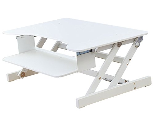 - Rocelco ADR Basic Height Adjustable Sit/Stand Desk Computer Riser, Dual Monitor Capable, 50lb Capacity - 32
