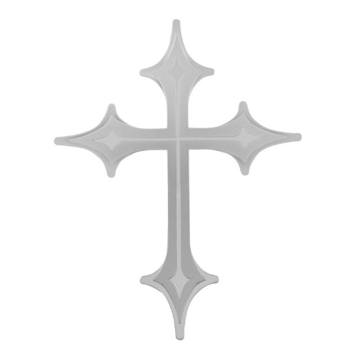 - Bully TT-090 Stainless Steel Cross Emblem with Dual Layer 3D Design