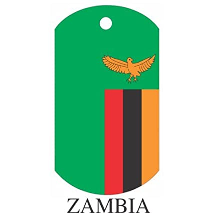 Amazon com : Zambia Flag Dog Tags : Sports & Outdoors