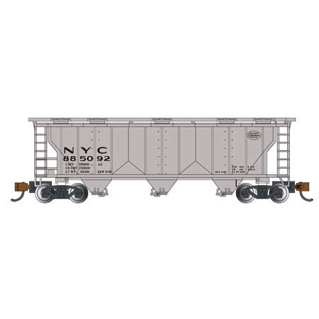 Bachmann Industries PS-2 NYC Three-Bay Covered Hopper Vehicle (N Scale)