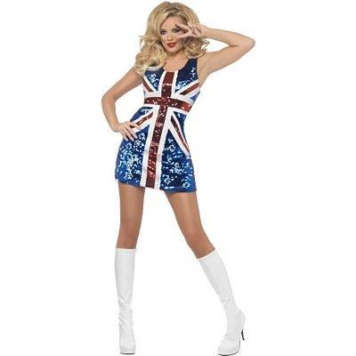 All that Glitters Rule Britannia Costume - Small - Dress Size 6-8