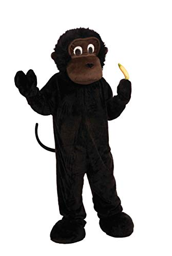 Forum Novelties Men's Plush Gorilla Mascot Costume, Black, One -