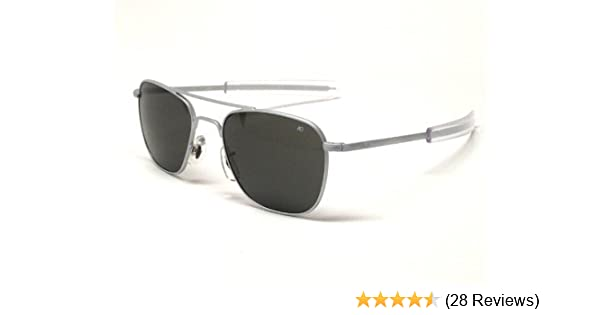 Amazon.com  AO Eyewear Original Pilot Sunglasses 57 mm Matte Chrome Frames  with Bayonet Temples and True Color Gray Glass Lenses (OP57M.BA. f921e5eb931