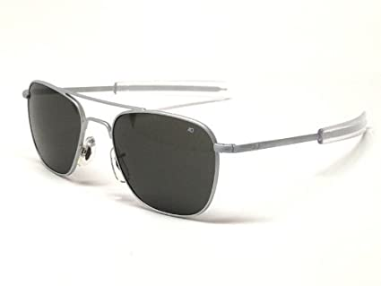 Amazon.com  AO Eyewear Original Pilot Sunglasses 57 mm Matte Chrome ... e564af1cf10