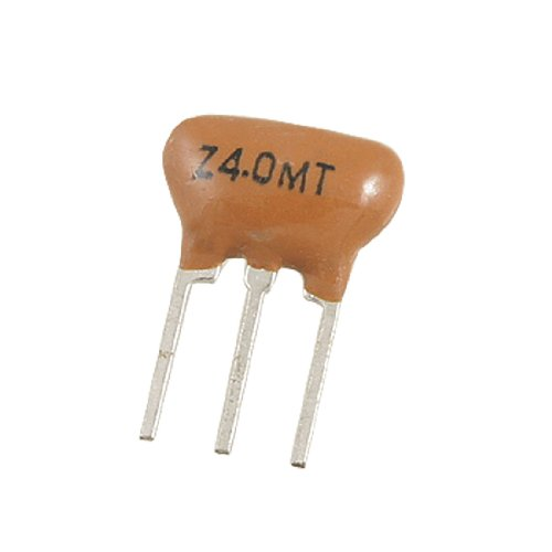 Uxcell a11101800ux0101 Through Hole Ceramic Resonators, 3 Pins, 4 MHz, Stat Series, 0.31