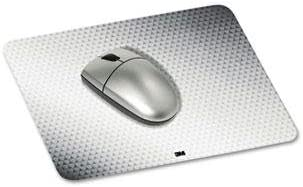 """3M - 3 Pack - Precise Mouse Pad Nonskid Repositionable Adhesive Back 8 1/2 X 7 Gray/Bitmap """"Product Category: Desk Accessories & Workspace Organizers/Mouse Pads & Wrist Rests"""""""