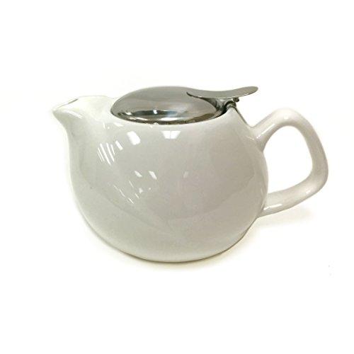 glossy white teapot - 1
