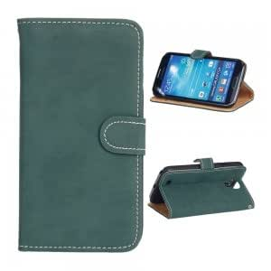 PU Leather and Plastic Protective Case with Retro Pattern for Samsung S4 i9500 Green