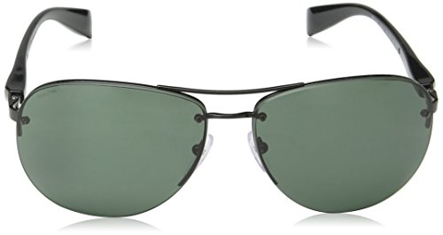 Rossa Black Gray Linea de Homme Prada Soleil Green Noir Lunettes Tw5qZ08