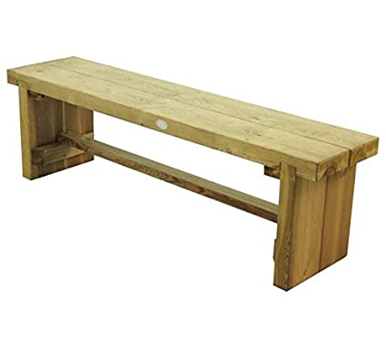 Forest Sturdy Wooden 15M Double Sleeper Garden Bench Outside Seating