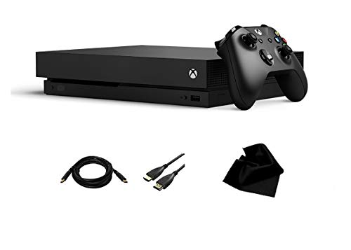 Xbox One X 1TB Console With Wireless Controller From Microsoft, Xbox One X Enhanced, HDR, 4K, Ultra HD, 12GB GDDR5, 326GB/sec memory bandwidth, With KWALICABLE™ Accessory Bundle.