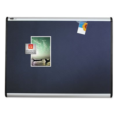 Prestige Plus Magnetic Fabric Bulletin Board, 36 x 24, Aluminum Frame, Sold as 1 Each by Quartet