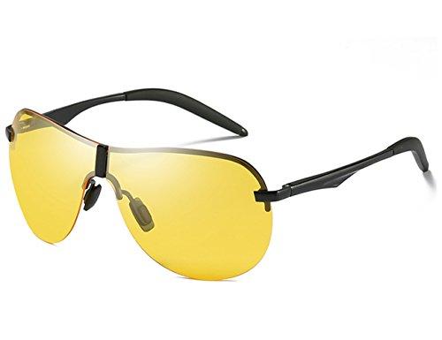 et Noir Classique Pilote Pour UV400 Super Léger Vintage Polarisées Femme de Aviator Lunettes jaune Homme Soleil Aviateur qxw04IOIZ