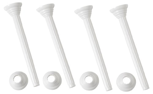 (Wilton 303-4000 Bakers Best Disposable Pillars with Rings, 7-Inch, 4-Pack)