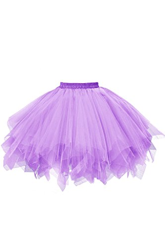 - Musever 1950s Vintage Ballet Bubble Skirt Tulle Petticoat Puffy Tutu Lavender Small/Medium