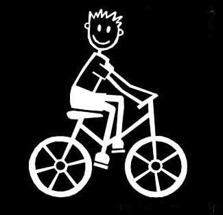 My Stick Figure Family Familie Autoaufkleber Aufkleber Sticker Decal Junge Radsport Fahrrad B11 Auto