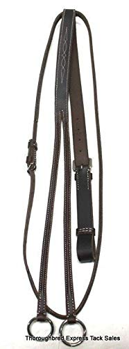 (D.A. Brand Medium Oiled Fancy Stitched Raised Running Martingale English Equine)