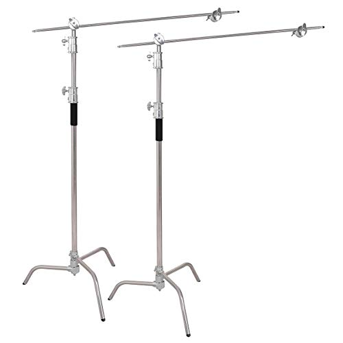 - Safstar 2pcs Pro Heavy Duty C-Stand, Adjustable Leg, 100% Stainless Steel w/Grip Head for Photography Studio Video Reflector, Monolights, Softboxes, Umbrellas