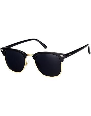 2f94fe08e Pro Acme Classic Semi Rimless Polarized Sunglasses with Metal Rivets