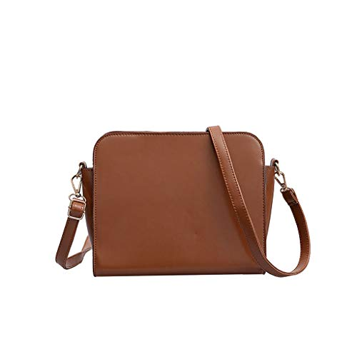 HOSOME Women Wild Messenger Bag Retro Shoulder Bag Simple Wings Bag Brown